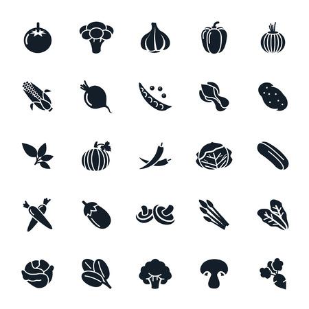 Vegetable icon on White Background illustration