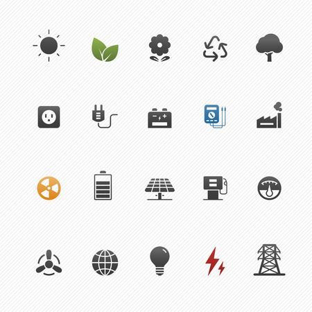 Illustration for environment and power vector symbol icon set - Royalty Free Image