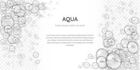 Illustration pour Abstract foam, water bubbles, isolated on transparent background - image libre de droit