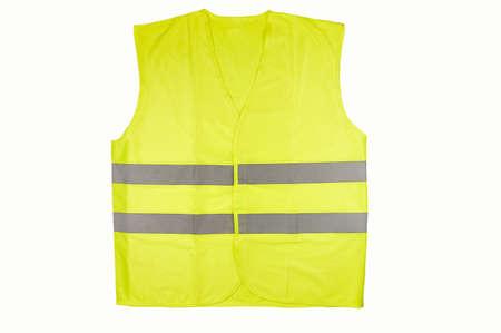 Photo pour Yellow vest isolated on black - image libre de droit