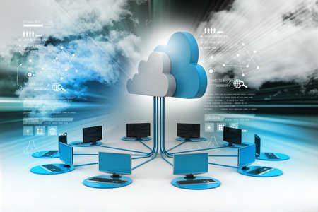 Photo pour Concepts cloud computing devices - image libre de droit