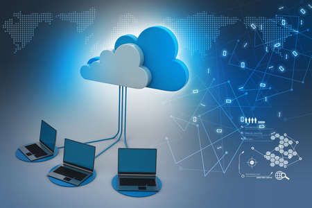 Foto de Concepts cloud computing devices - Imagen libre de derechos