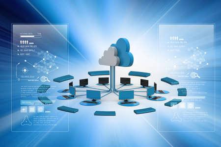 Foto de Concepts cloud computing devices - Imagen libre de derechos
