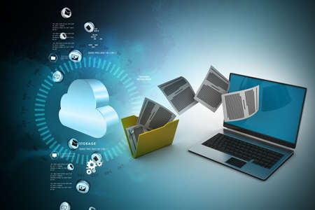 Foto de Data transferring - Imagen libre de derechos