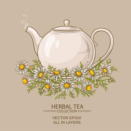 Illustration pour Chamomile tea illustration - image libre de droit