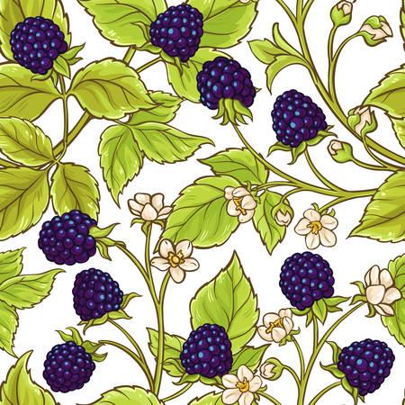 Illustration pour Blackberry vector pattern - image libre de droit
