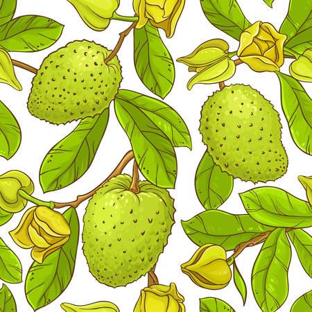 Illustration pour Soursop vector pattern - image libre de droit
