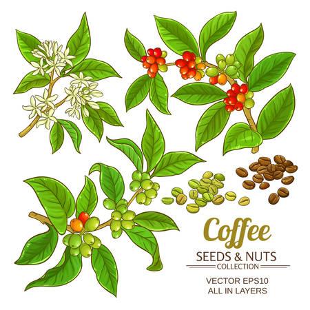 Ilustración de Coffee vector set icon. - Imagen libre de derechos