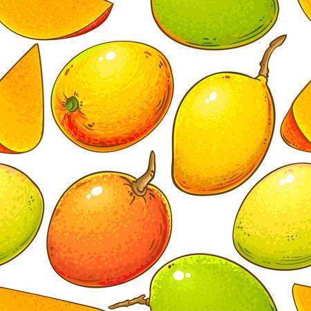 Illustration pour mango vector pattern - image libre de droit