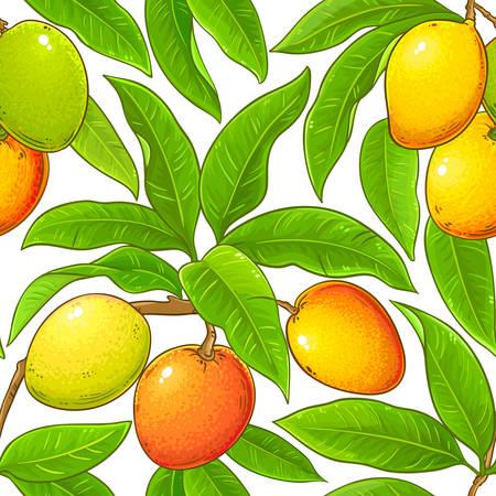 Illustration for mango vector pattern - Royalty Free Image