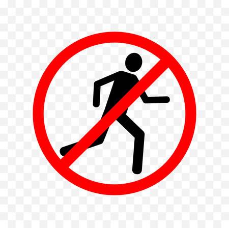 Illustration pour no running sign - image libre de droit