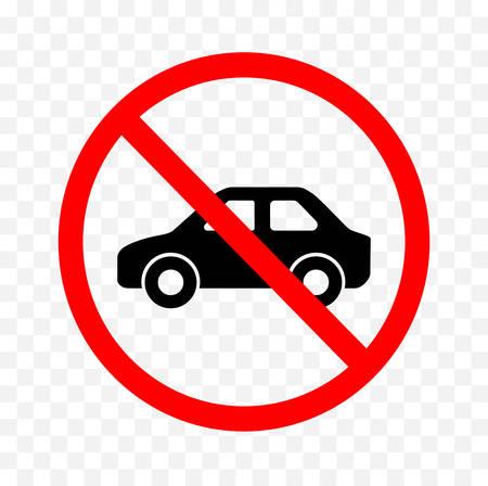 Illustration pour No vehicle sign on white background, vector illustration. - image libre de droit