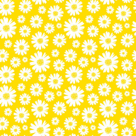 Illustration for seamless daisy background vector illustration - Royalty Free Image