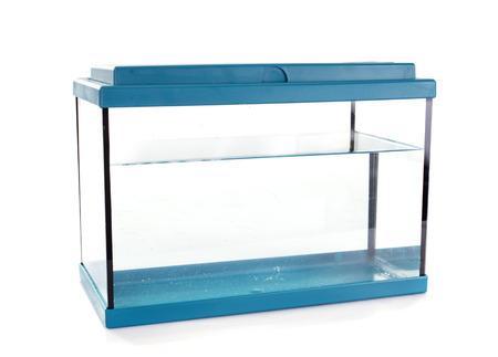 Photo pour blue aquarium in front of white background - image libre de droit