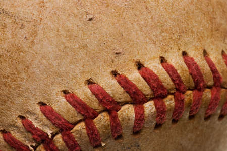 baseball with red stitching baseball isolated on white background mural