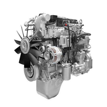 Photo pour Car truck  Engine on white background - image libre de droit