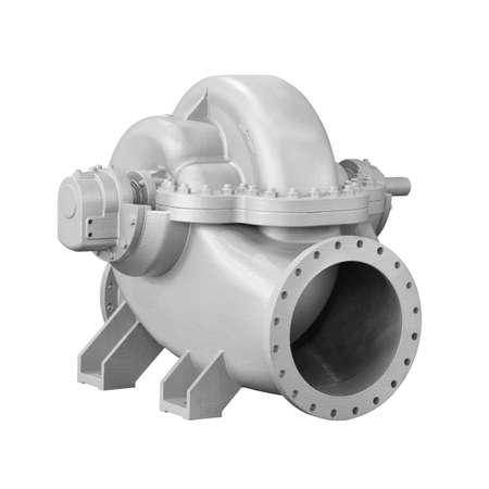 Foto de close up detail cross section impeller inside of electric centrifugal pump or blower for industrial - Imagen libre de derechos