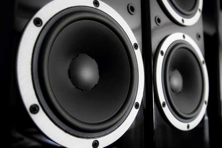 Photo for Black audio speakers - Royalty Free Image