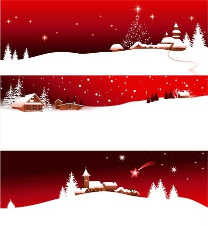 Illustration pour Christmas banners  - image libre de droit
