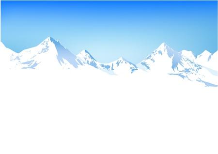 Illustration pour Winter mountains - image libre de droit