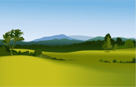 Illustration pour Mountain landscape  - image libre de droit