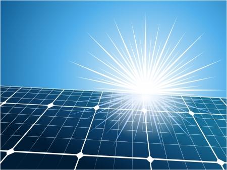 Illustration pour Solar collector installation outdoors background - image libre de droit