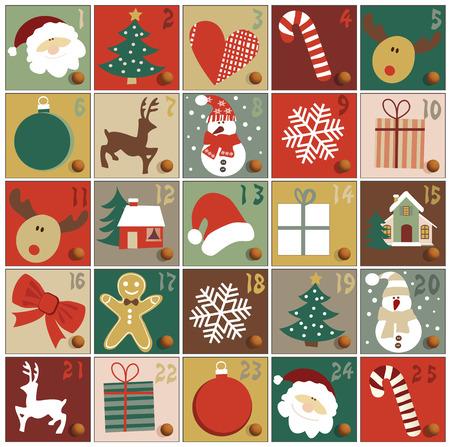 Illustration for Advent calendar - Royalty Free Image