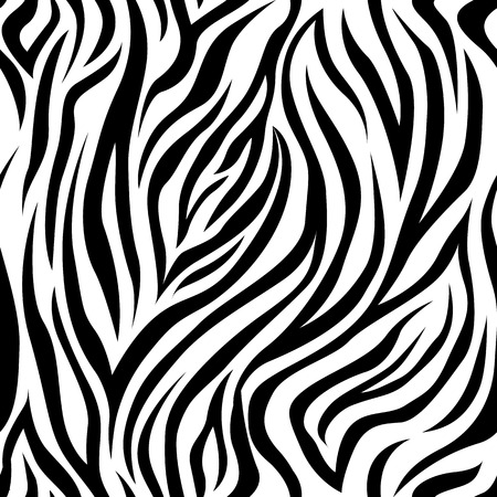 Illustration for Vector seamless pattern with zebra stripes. Background, backdrop, print fabric. - Royalty Free Image