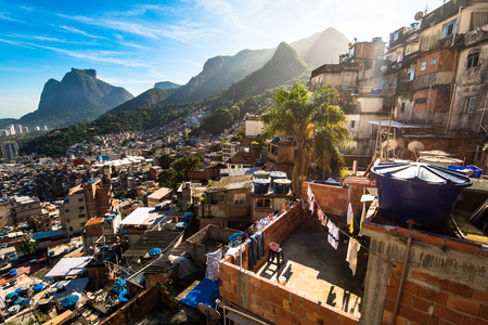Photo for Rocinha is the Largest Favela in Brazil and Has Over 70,000 Inhabitants and is Located in Rio de Janeiro City - Royalty Free Image