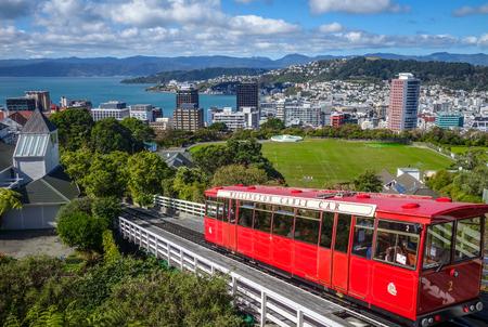 Photo pour Wellington city cable car in New Zealand - image libre de droit