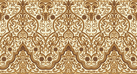 Illustration pour Seamless texture with luxury arabic ornament. Vector vintage pattern - image libre de droit