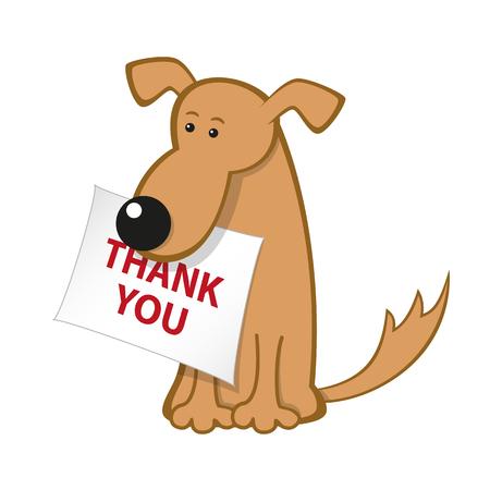 Ilustración de Cartoon dog with message paper - Imagen libre de derechos