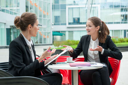 Photo for Young business woman job interview - Royalty Free Image