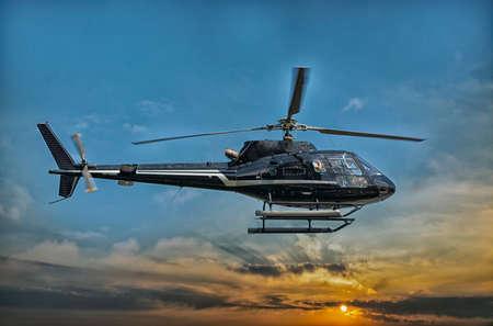 Foto de Helicopter for sightseeing. - Imagen libre de derechos