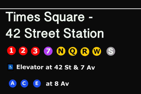 Foto für Times Square Entrance subway station sign - NYC. - Lizenzfreies Bild