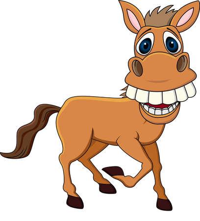 Illustration pour Smiling horse cartoon - image libre de droit