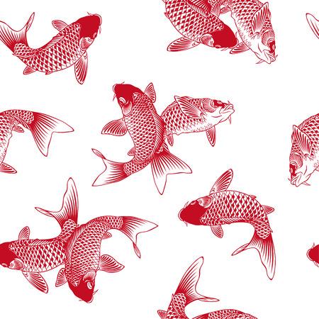 Photo pour Japanese carp - image libre de droit