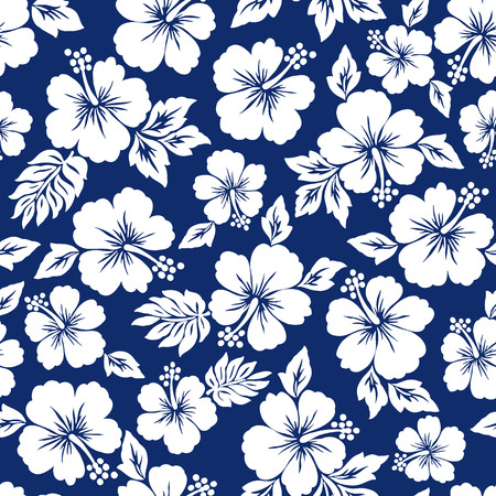 Illustration pour Hibiscus flower pattern - image libre de droit
