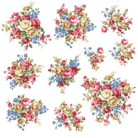 Illustration pour Rose flower bouquet, - image libre de droit