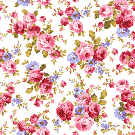 Illustration pour Rose flower pattern, - image libre de droit
