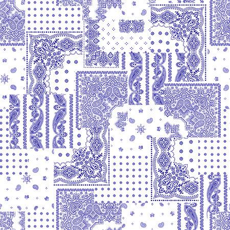 Illustration pour Bandana pattern design - image libre de droit
