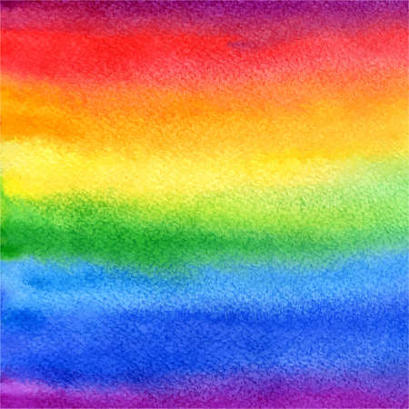 Illustration pour vector watercolor abstract rainbow background in colorful and bright colors - image libre de droit