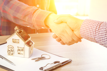 Photo for House developers and customers shook hands - Royalty Free Image