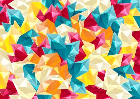 Ilustración de Abstract colorful background with geometric shapes.Vector illustration. - Imagen libre de derechos