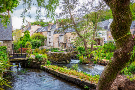 Photo for Idyllic scenery at Pont-Aven, a commune in the Finistere department of Brittany (Bretagne) in northwestern France - Royalty Free Image