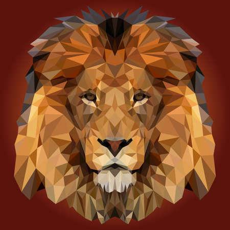 Illustration pour Abstract Low Poly Lion Design - image libre de droit