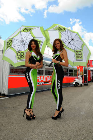 Photo pour 31 May 2014: Paddock Girls at MotoGP Championship in Mugello Circuit. Italy. - image libre de droit