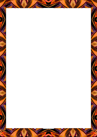Foto de White frame background with decorated design borders. - Imagen libre de derechos