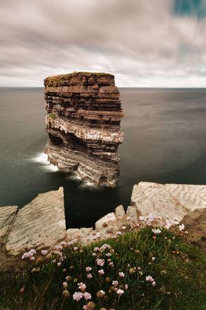 Photo for Downpatricks Kopf Atlantik in Irland. - Royalty Free Image