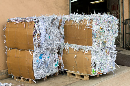 Photo for Waste paper recycling - Royalty Free Image